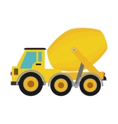 concrete mixer icon Under construction concept vector image