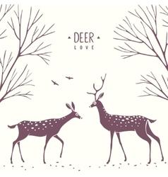 Deer cartoon silhouette vector