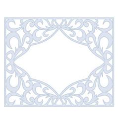 Gray openwork frame vector