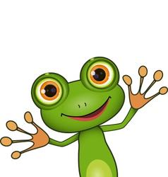 green cute frog vector image vector image