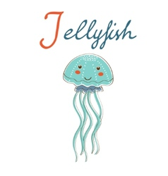 J is for Jellyfish format vector image vector image