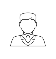 Lawyer avatar line icon vector