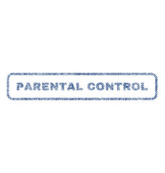 parental control textile stamp vector image