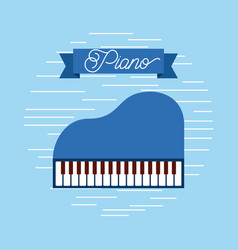 piano jazz instrument musical festival celebration vector image