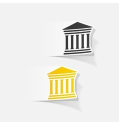 Realistic design element courthouse vector