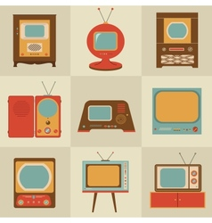 Retro vintage Tv set vector image