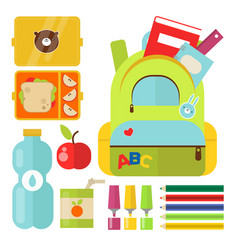 school supplies children stationary educational vector image vector image