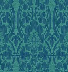 Seamless abstract striped floral pattern vintage vector image