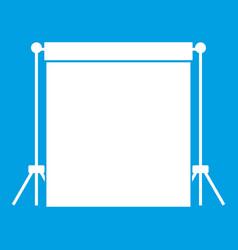 Studio backdrop icon white vector