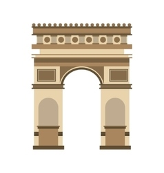 Triumph arch france isolated icon vector