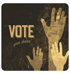 Voting hands poster vector