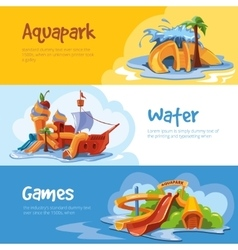 Waterslides in an aquapark vector