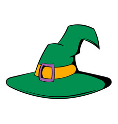 Witch hat icon cartoon vector