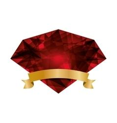 Red diamond icon Gem design graphic vector image