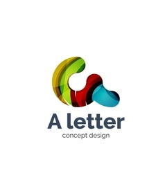 A letter alphabet round style logo business vector