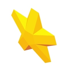 Golden star awards symbol icon isometric 3d style vector