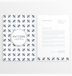 Company letterhead design with clean pattern vector