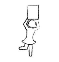 Boxing model pictogram vector