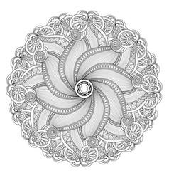Beautiful deco monochrome contour mandala vector
