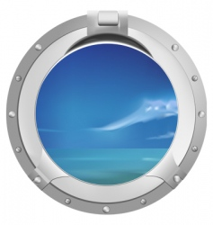 Ship window vector