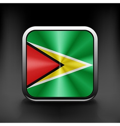 Guyana icon flag national travel icon country vector