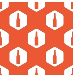 Orange hexagon bottle pattern vector
