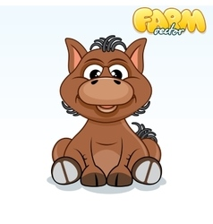 Cute cartoon horse vector