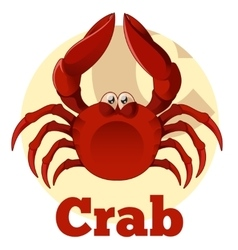 Abc cartoon crab vector