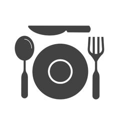 Two course meal vector