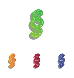 Paragraph sign  colorfull applique vector