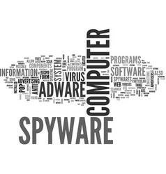 Adware and spyware anti virus text word cloud vector