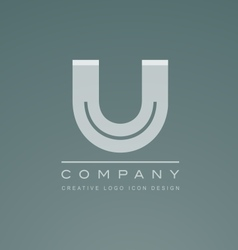 Alphabet letter u logo icon design vector