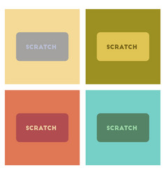 Assembly flat icons poker scratch card vector