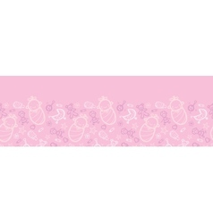 Baby girl pink horizontal seamless pattern vector image vector image