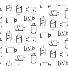 Battery seamless pattern vector image vector image