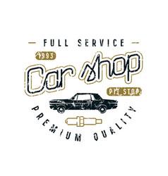 car shop emblem vector image vector image