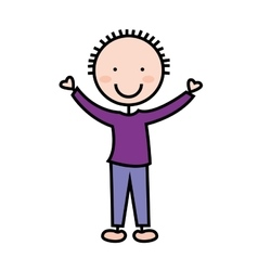 cartoon boy icon vector image