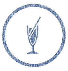 cocktail rounded fabric textured icon vector image vector image