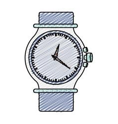 Color pencil graphic of purple female bracelet vector