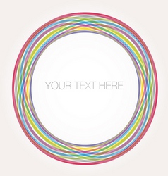 Colorful circle frame vector