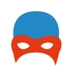 Colorful silhouette of fighter mask vector