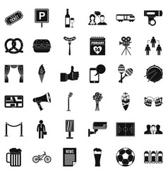 Conversation icons set simple style vector