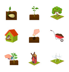 farm garden nature and other web icon in cartoon vector image vector image