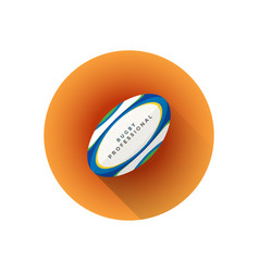 flat color rugby ball vector image vector image