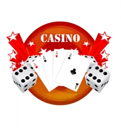 gambling illustration with casino elements vector image