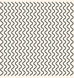 geometric seamless pattern vertical thin wavy line vector image