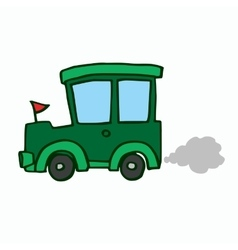 Green Jeep kids t-shirt design vector image vector image