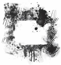 halftone grunge vector image vector image