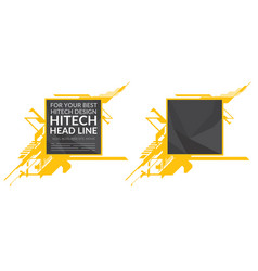 hi-tech yellow elements with polygonal texture vector image vector image