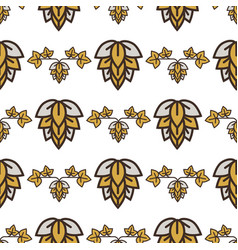 hop craft sketch visual graphic seamless vector image
